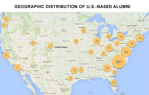 Geographic Distribution of Alumni