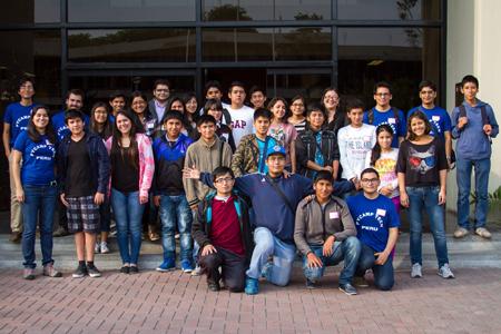 Participants and organizers at PyCamp Teen Perú