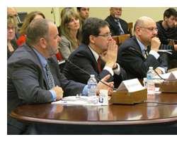 Professor Rappa (center) giving expert testimony in Congress
