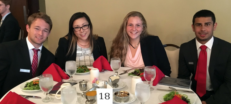 MSA 2018 Etiquette Dinner with Alex, Kiersten, Victoria and Veer