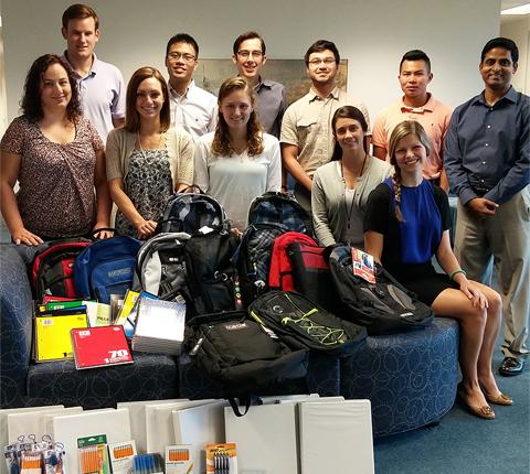 MSA student volunteers