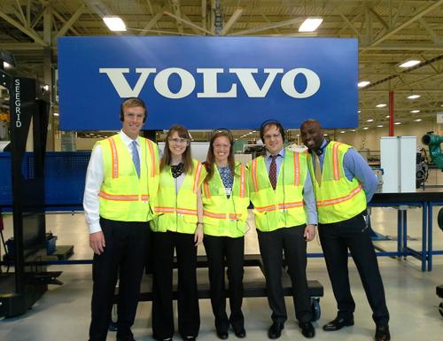 Practicum Team Heads to Volvo