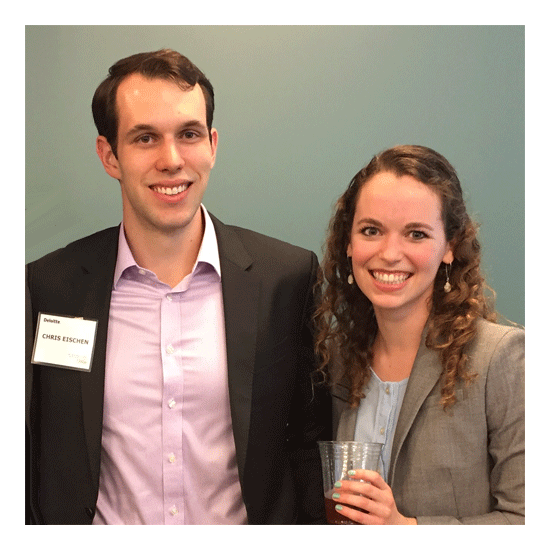 Chris and Emmy, Deloitte Reception