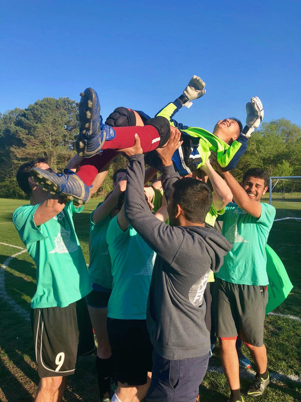 winning celebration